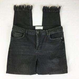 P3 Free People Raw Hem Fringe Jeans